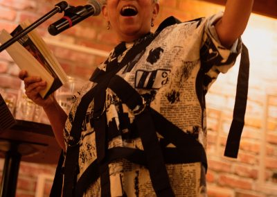 Lillian Allen at the Edmonton Poetry Festival. Photo by Randall Edwards
